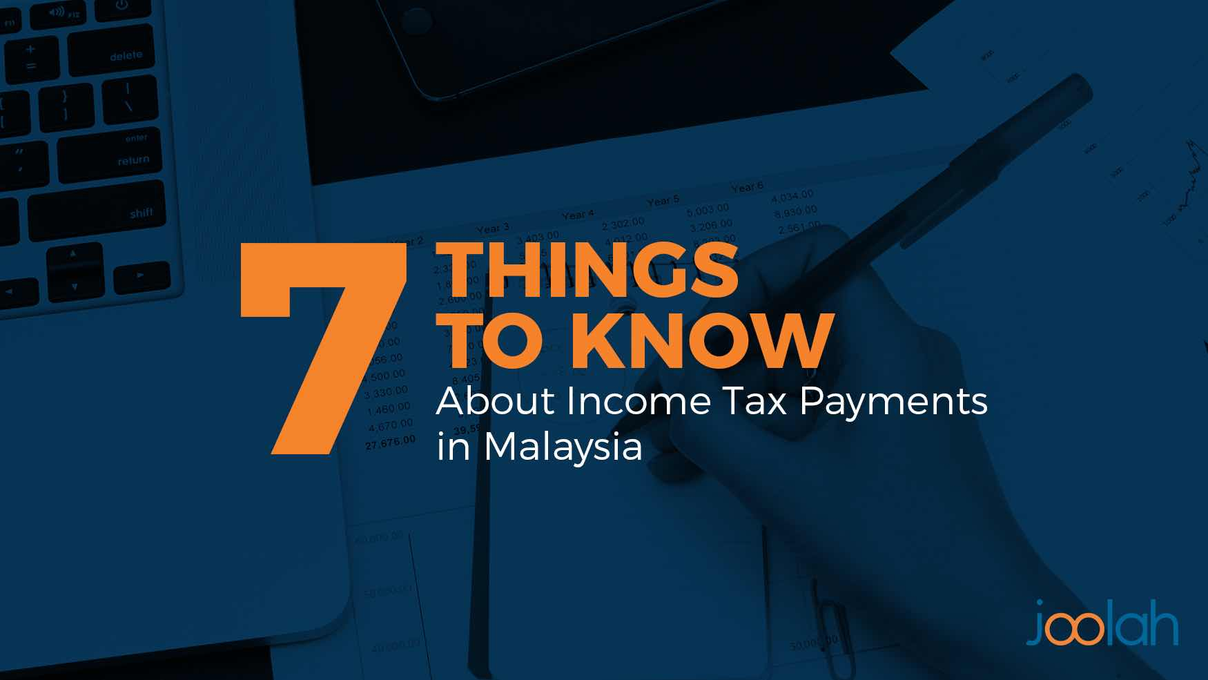 person doing his income tax payments in malaysia