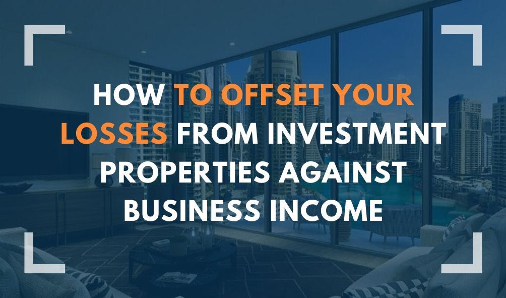 inside investment property with text: how to offset losses from investment properties