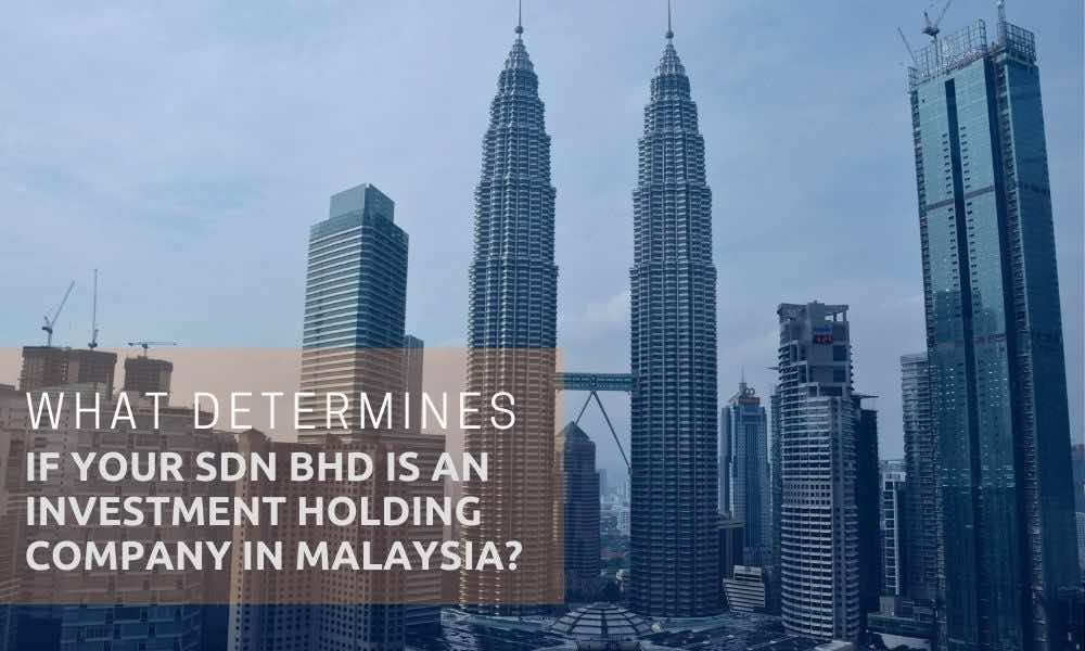kuala lumpur skyline, Petronas Tower, Four Seasons Hotel text written on image: Investment Holding Company